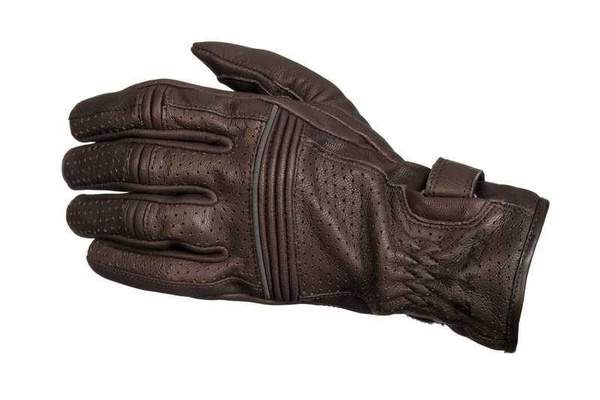 978d2d0db15 Racer City pánské hnědé kožené rukavice na motorku