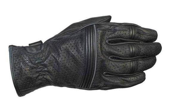 Racer City pánské černé kožené rukavice na motorku  406ca8cf14