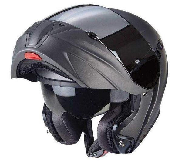 0002e43e91c Scorpion EXO-920 antracitová matná výklopná helma