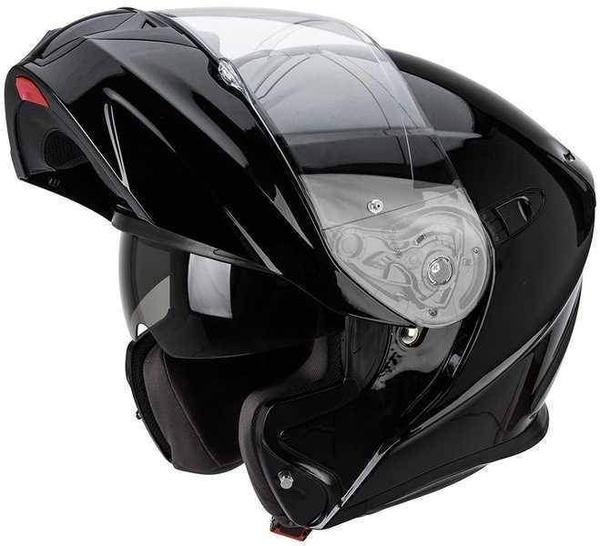 7cbaeabd4f8 Scorpion EXO-920 černá lesklá výklopná helma na motorku