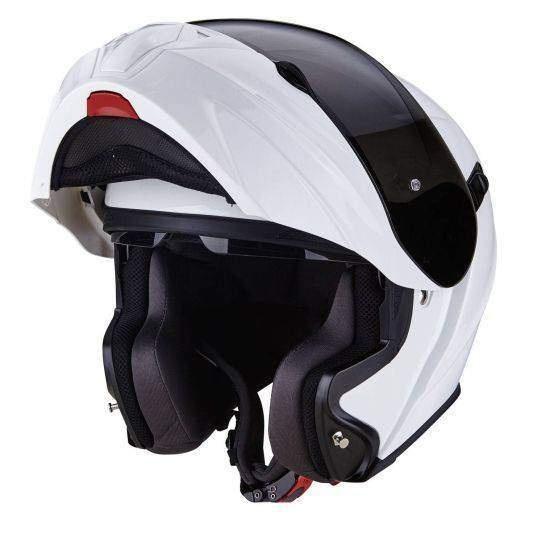b36b39efc53 Scorpion EXO-920 bílá lesklá výklopná helma na motorku