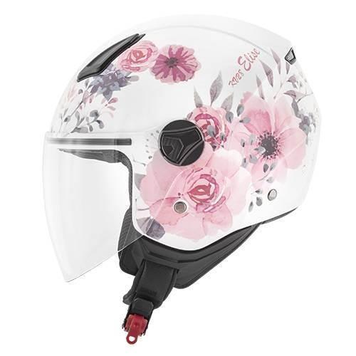 Kappa KV28 MIAMI ELISE dámská bílá růžová otevřená přilba na motorku a skůtr.  1 9200f3fd97e